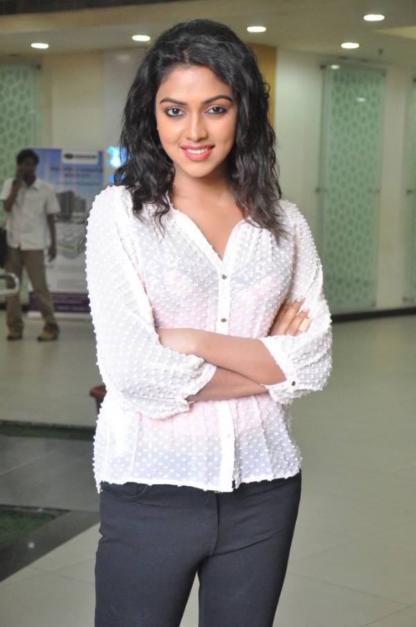 Amala Paul Hot Photos in Transparent Dress