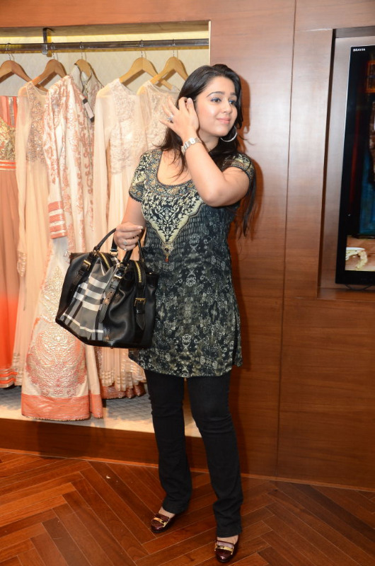 charmi hot stills at shantanu nikhil designer store 05 Charmi Hot Stills at Shantanu Nikhil Designer Store