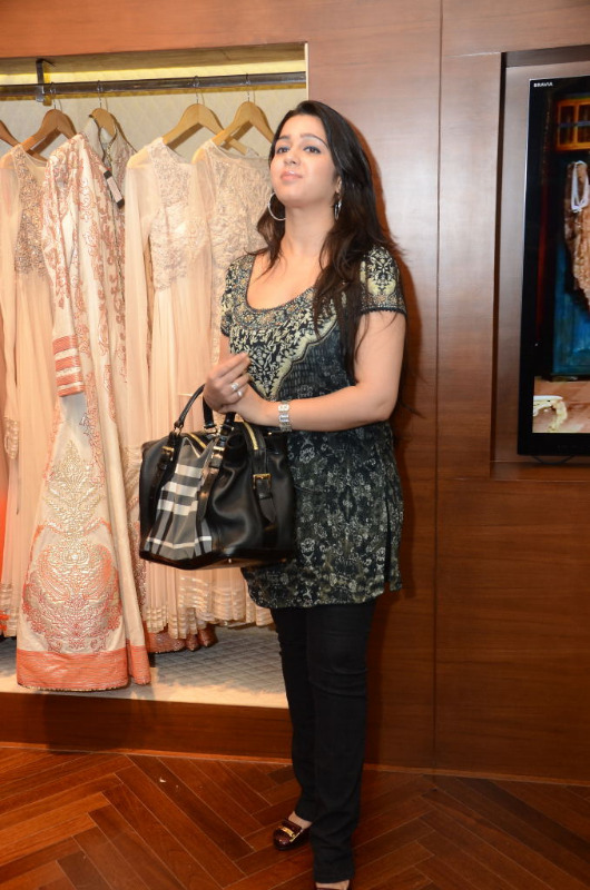 charmi hot stills at shantanu nikhil designer store 06 Charmi Hot Stills at Shantanu Nikhil Designer Store