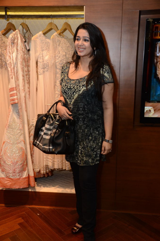 charmi hot stills at shantanu nikhil designer store 07 Charmi Hot Stills at Shantanu Nikhil Designer Store