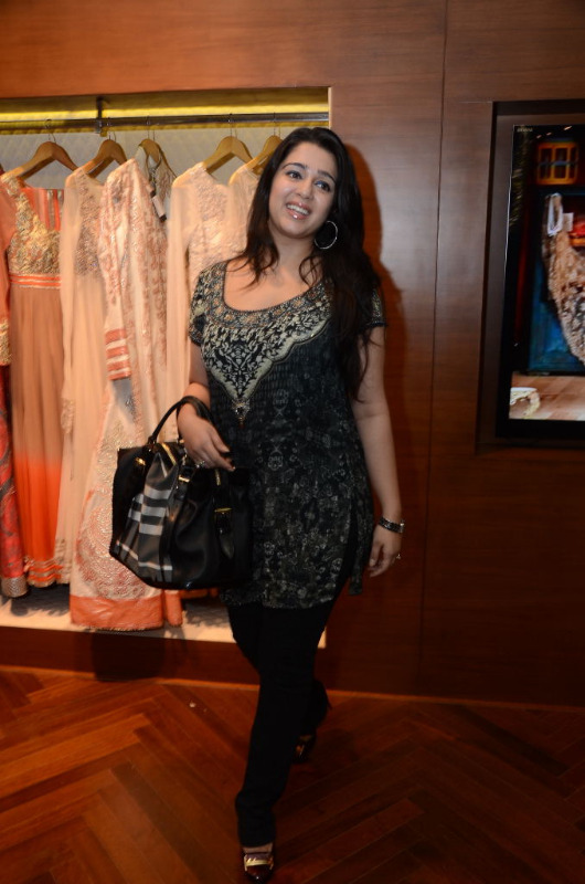 charmi hot stills at shantanu nikhil designer store 12 Charmi Hot Stills at Shantanu Nikhil Designer Store