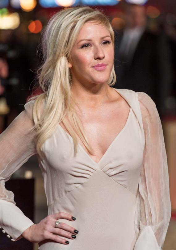 ellie goulding 02 Ellie Goulding Has Wardrobe Malfunction In Sheer White Dress