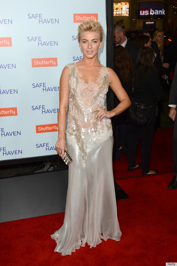 julianne hough pics 570 Julianne Hough Goes Sheer At Safe Haven Premiere In Mesh Beaded Dress