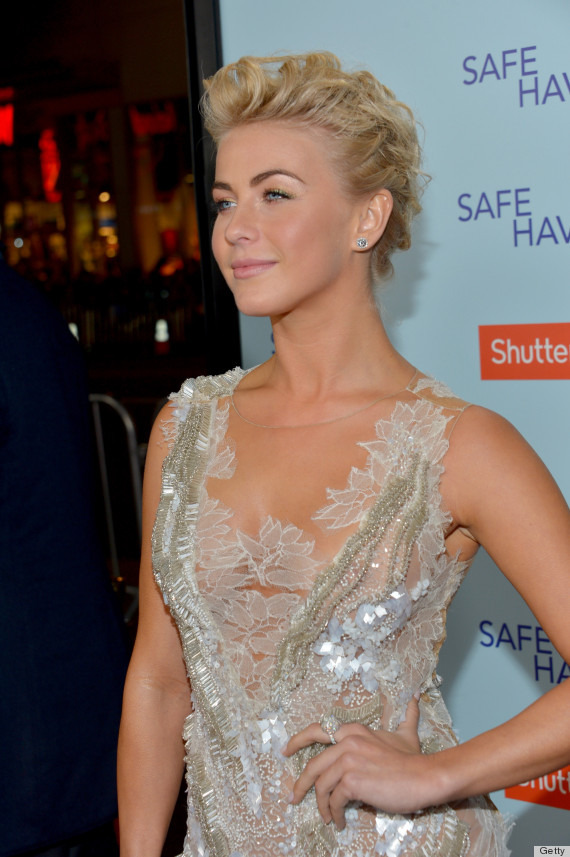 julianne hough pics 571 Julianne Hough Goes Sheer At Safe Haven Premiere In Mesh Beaded Dress