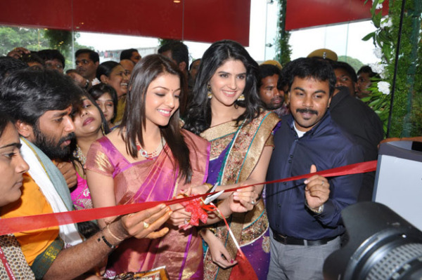 kajal and deeksha seth at kalamandir new store launch 102 Kajal and Deeksha Seth at Kalamandir New Store Launch
