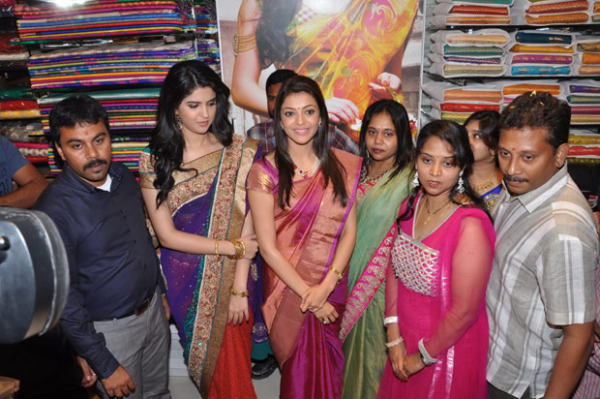 kajal and deeksha seth at kalamandir new store launch 109 Kajal and Deeksha Seth at Kalamandir New Store Launch
