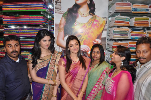 kajal and deeksha seth at kalamandir new store launch 1120 Kajal and Deeksha Seth at Kalamandir New Store Launch