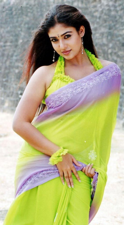actress nayanthara in saree 07 Nayanthara Hot Photos in Saree