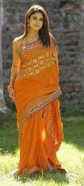 actress nayanthara in saree 11 Nayanthara Hot Photos in Saree