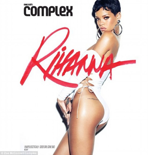 rihanna complex magazine 01 Rihanna bares acres of flesh for Complex magazine
