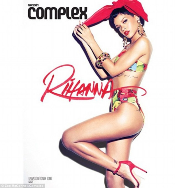 rihanna complex magazine 07 Rihanna bares acres of flesh for Complex magazine