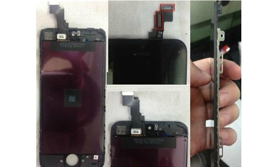 Front panel and innards of the iPhone 5C leak-1