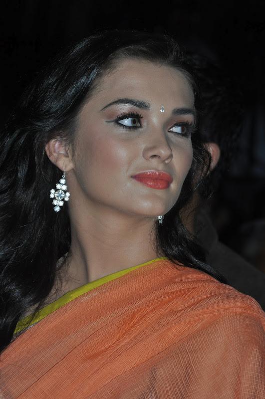amy-jackson-hot-stills-in-transparant-saree-9