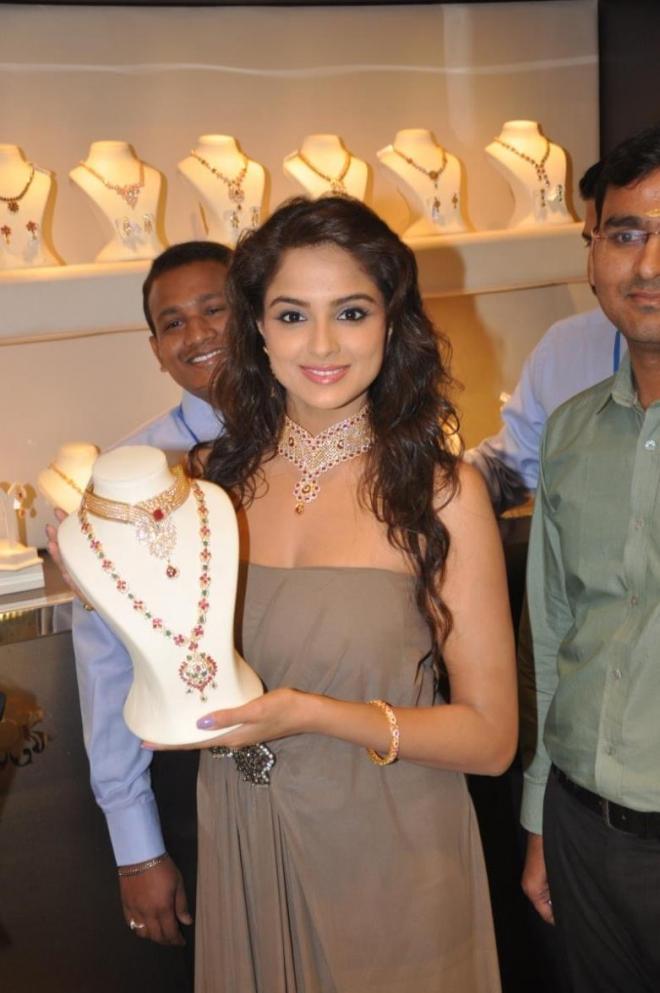 Actress Asmita Sood at Jos Alukkas Showroom Launch Photos