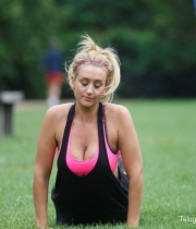 Catherine Tyldesley Works Out Hot Photos In Park - TeluguNow.com_025
