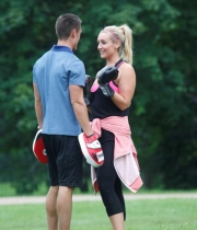 Catherine Tyldesley Works Out Hot Photos In Park - TeluguNow.com_046
