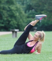Catherine Tyldesley Works Out Hot Photos In Park - TeluguNow.com_021