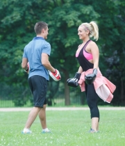 Catherine Tyldesley Works Out Hot Photos In Park - TeluguNow.com_044