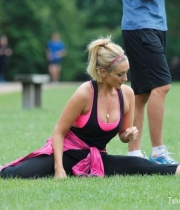 Catherine Tyldesley Works Out Hot Photos In Park - TeluguNow.com_002