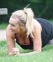 Catherine Tyldesley Works Out Hot Photos In Park - TeluguNow.com_054