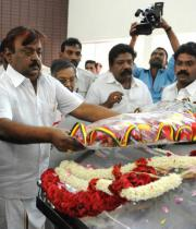 Vijayakanth Pay last Respects to Dinathanthi owner Sivanthi Adithan Photos