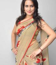 Chinmayi Ghatrazu Unseen Hot Saree Stills In Lovely Triple Platinum Disc Event Gallery
