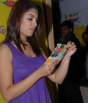richa-gangopadhyay-radio-mirchi-for-sarocharu-audio-launch-9
