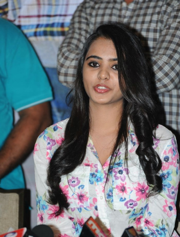 Telugu Actress Manasa Photos at Romance Movie Press Meet